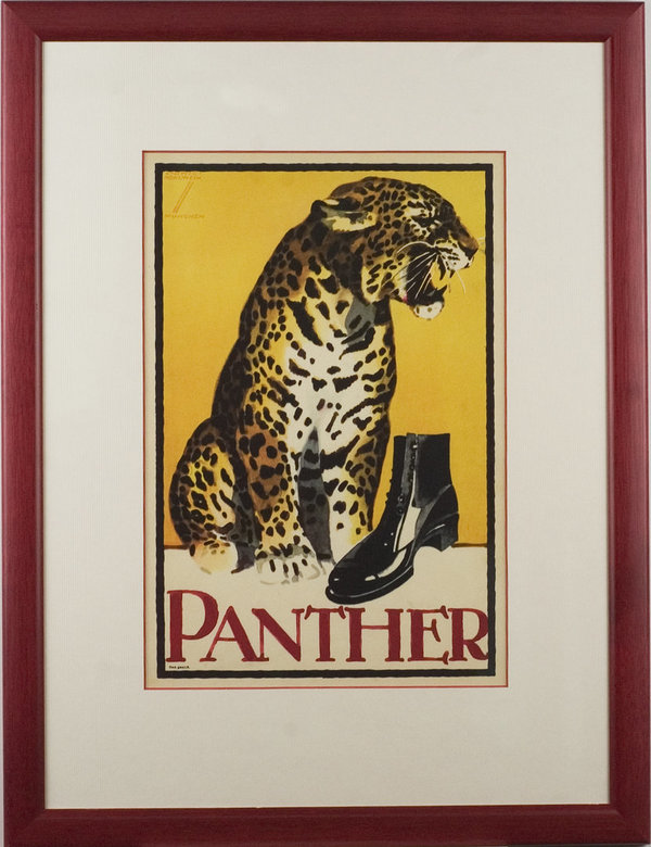 Ludwig Hohlwein - Panther Schuhe - gerahmt